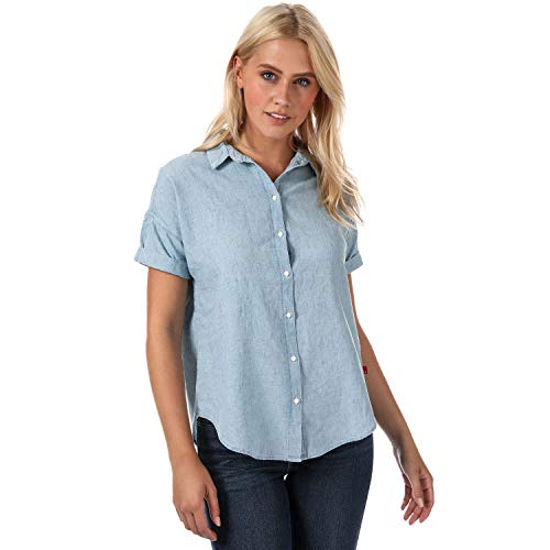 Levi's Damen Harper Shirt Hemd, Blau (Light Mid Wash 0000), Small