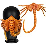 New Facehugger Mask Creepy Alien Facehugger Face Mask Scary Face Xenomorph Hugger Cosplay Claws Insect Props (Orange)