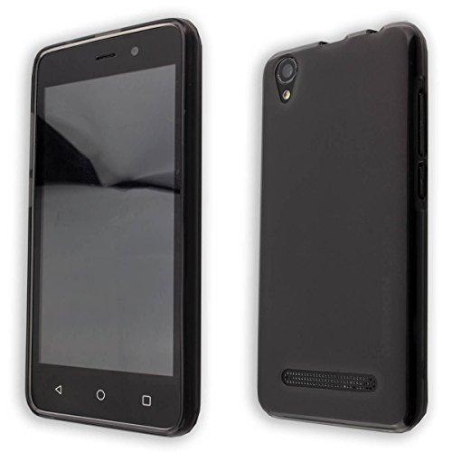caseroxx TPU-Hülle für Medion Life E4504 MD 99537, Handy Hülle Tasche (TPU-Hülle in schwarz-transparent)