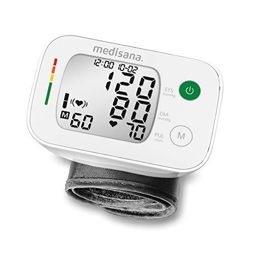 Medisana BW 335 tensiómetro de muñeca, pantalla de arritmia, escala de colores de los semáforos de la OMS, para la medición precisa de la tensión arterial y la medición del pulso, función de me