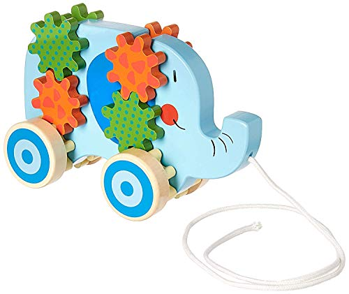 Save %6 Now! Applesauce 98405 Wooden Pull Toys Infant Development Educational Baby Toys, Blue