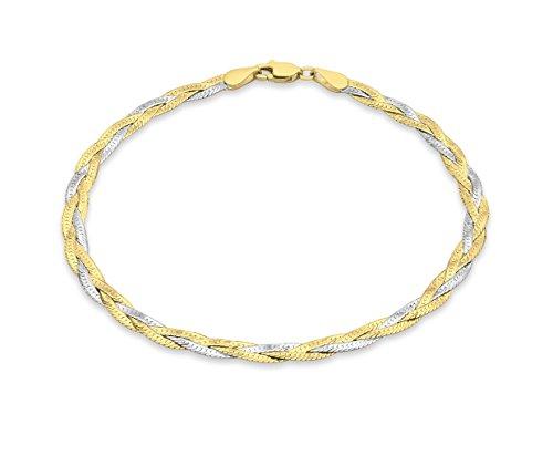 Carissima Gold Pulsera de mujer con oro bicolor de 9 quilates (375/1000), sin gema