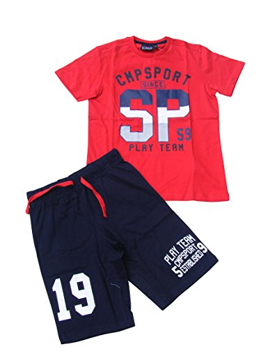 CMP Jungen Set T-Shirt+Shorts 38D8414-C580 Ferrari, 140