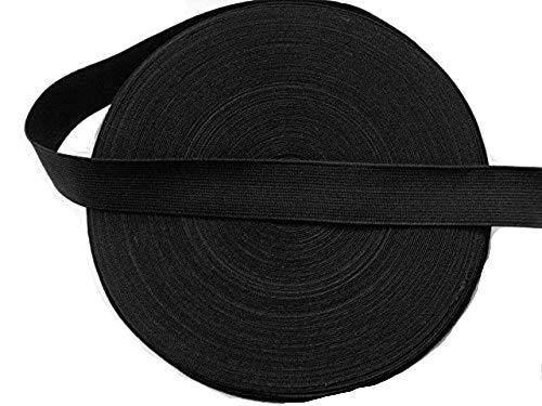 Élastique plat noir de 20 mm x 3 m livré à partir d'un rouleau et peut être découpé en bande continue.
