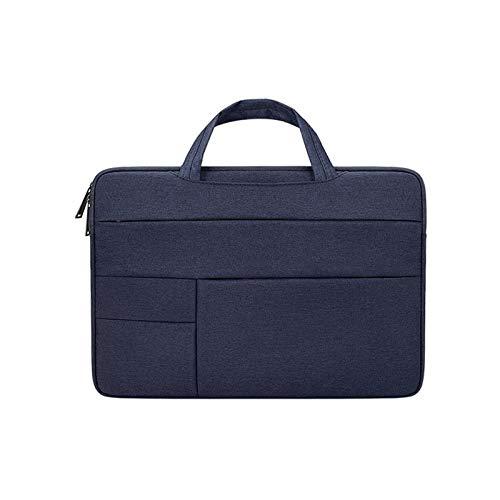 Laptop Bag 13.3 14 15.6 Inch Waterproof Notebook Case Sleeve for MacBook Air Pro Computer Shoulder Handbag Women Men Briefcase (Color : Navy Blue I, Size : 14 inch)
