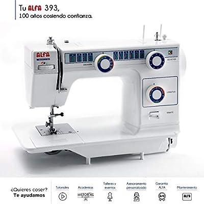 Alfa Modelo - Máquina de coser de mesa con 23 puntadas, color blanco