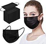 100pcs Black Disposable Face Mack For Protection Mouth Shields Safety...