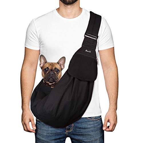 SlowTon Pet Carrier, Hand Free Sling Adjustable Padded Strap Tote Bag Breathable Cotton Shoulder Bag...