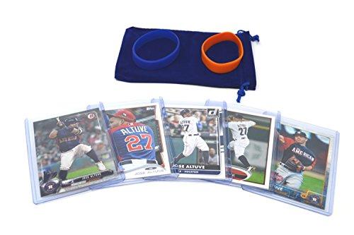 Jose Altuve Baseball Cards Assorted (5) Bundle - Houston Astros Trading Cards
