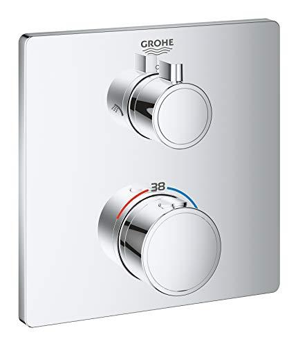 Grohe Mitigeur Thermostatique Douche (à Encastré) 2 Sorties avec Inverseur Grohtherm 24079000 (Import Allemagne)