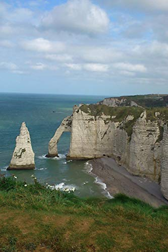 Drone View of the Arch and the Aiguille,Cliffs Etretat in Normandy, France: Take Notes, Write Down Memories in this 150 Page Lined Journal