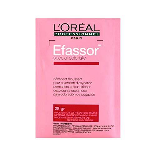 L'Oréal Efassor Professionelles Fleckenentferner zur Entfernung von unkompatiblen Reflexen, falschen Reflexionen oder Überlastungen. Beutel mit 28 g.