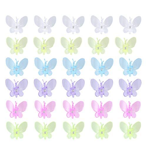Yardwe 30 STÜCKE Libelle Orchidee Clips Pflanze Blume reben Clips Gartenarbeit Stake Clips für pflanzenträger 3,5x3,8 cm (mischfarbe)