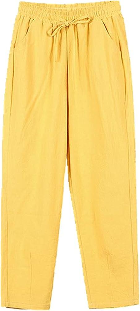 NP Pants Women's Pencil Pants Casual Ankle Length Trousers Waist Bottom Pantalon