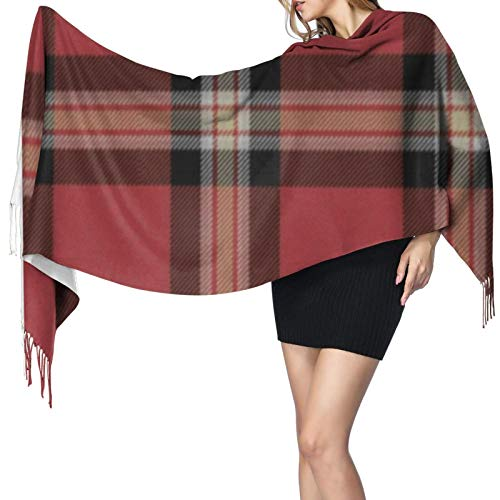 Sofá decorativo de tartán para mujer, cálido, largo, bufandas grandes, sensación de cachemira, bufanda larga