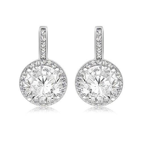 Tuscany Silver Sterling Silver Rhodium Plated Cubic Zirconia Drop Earrings