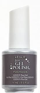 IBD Just Gel Nail Polish Patchwork 0.5 Ounces Grey