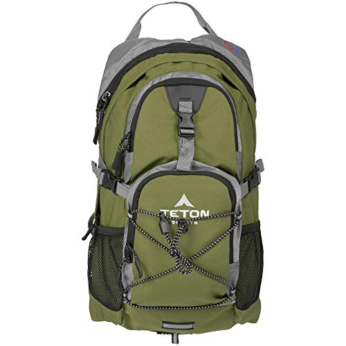 TETON Sports Oasis 1100 Hydration Pack; Free 2-Liter Hydration Bladder; For Backpacking, Hiking, Running, Cycling, and Climbing; Green, 18.5-Inch x...