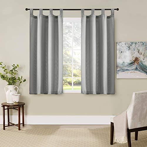 GIRASOLE Par de cortinas semiopacas de color liso para saló