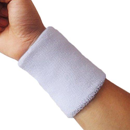 Livecity® Schweißbänder für Sport, Tennis, Squash, Badminton, Fitnessstudio, Fußball, 1 Stück Gr. Einheitsgröße, weiß