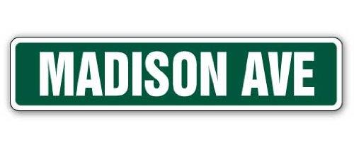 Madison Avenue Street Sign Manhattan New York Signs Publicité | Intérieur/extérieur | 45,7 cm de large