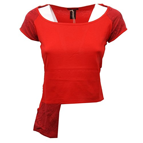 Custo C8610 Maglia Donna Barcelona asimmetrica Rosso t-Shirt Woman [2/S]