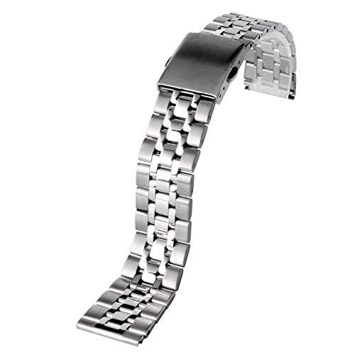 A1-Brave Correa Reloj, 16 mm 18 mm 20 mm de Acero Inoxidable Correa de Reloj Plata/Oro reemplazo Venda de la Pulsera Correa de muñeca + 2 Barras de Resorte Sólido Correa