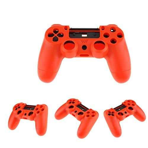 perfk Coque De Protection Intégrale 4 Pièces Pour Skin Playstation 4 PS4 - Rouge - Qui Peut Remplacer Votre Coque Cassée Ou Endommagée