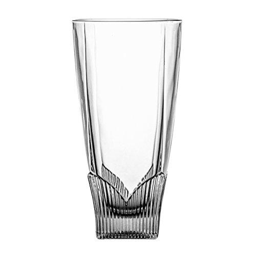 Crystaljulia 2320–Bicchieri Long Drink con Cristalli 380ml 8x 8x 16cm, 6unità