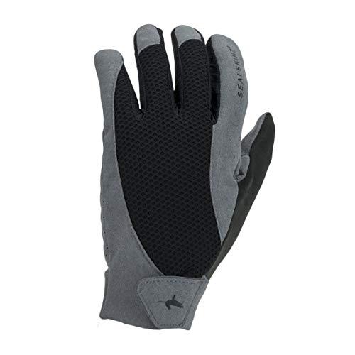 SealSkinz Unisex-Adult Solo MTB Glove, Grey/Black, XXL