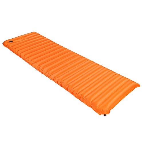 OUTAD Camping Moisture-Proof Pad Manually Inflatable Cushion Zelt Matratzen Luftmatratze (L, Orange)