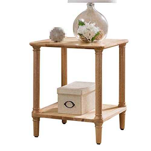 C-J-Xin Home Phone Tafel, dubbellaags retro kleine tabel kleine woning woonkamer sofa hoek bloem staander decoratieve ornamenten ruimte besparen