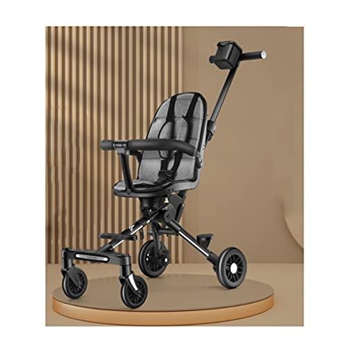 xiaoli Sillas de Paseo Artefacto de Cochecito, un Carro de luz de Cuatro Ruedas Que se pliega en un Segundo, Sentado de Dos vías y cochecitos de trolleys reclinados Cochecito de bebé