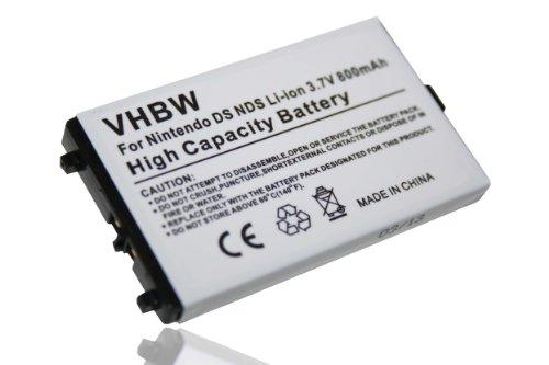 vhbw Batería compatible con Nintendo DS, NDS consolas de juegos, reemplaza Nintendo NTR-001, NTR-003 -(Li-Ion, 800mAh, 3.7V)