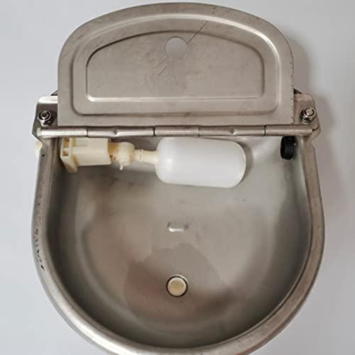 Libarty Dispensador automático de Cuenco de Agua Potable para Vacas, Bebedero de Animales de Granja de Acero Inoxidable con válvulas de Bola Flotante