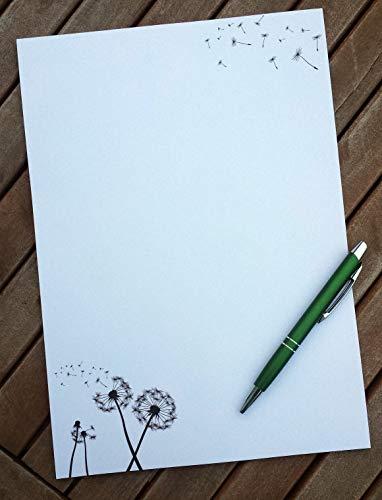 Briefpapier Pusteblume I Set Briefpapier/Umschläge