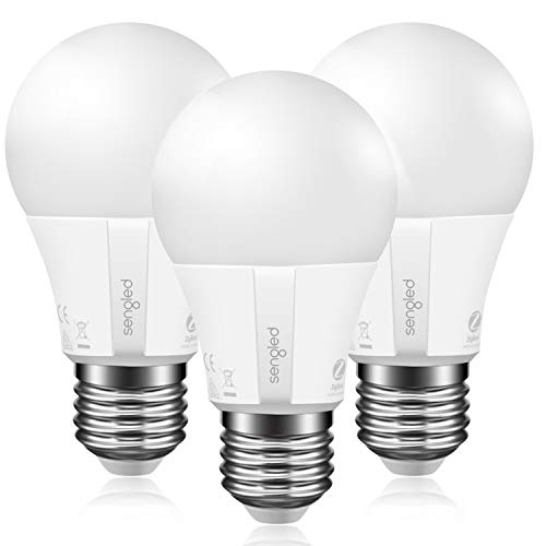 Sengled Smart Light Bulb A19 Daylight, Hub Required, Smart Bulb A19 5000K 60W Equivalent, Smart LED Light Bulb Compatible with Alexa, Google Assistant, SmartThings & IFTTT, 3 Pack