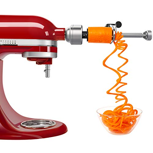 Spiralizer Attachment (5 Blades) Compatible with KitchenAid Stand Mixer, Comes with Peel, Core and Slice, Vegetable Slicer