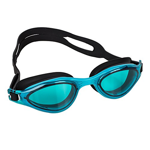Splaqua Swim Goggles for Men and Women - Adjustable Straps, Silicone Eye Seal, UV Protection and Anti Fog Lenses Swimming Goggle - Teal and Black