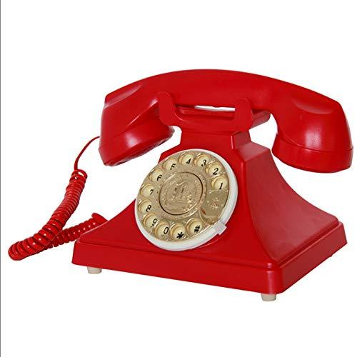 ZHAOH Línea Fija Retro Teléfono Retro Teléfono Rotario de la línea de dial Teléfono Antiguo, Auricular del teléfono de la casa de la casa del Vintage Retro del Vintage. Teléfono Decorativo