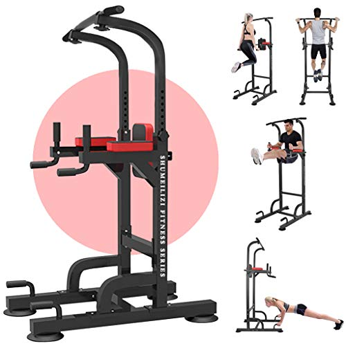 XSSFCC Power Tower Dip Station Pull Up Bar for Home Gym Strength Training Workout Equipment, 220Lb New Version - Relife Rebuild Your Life (Power Tower Dip Station)