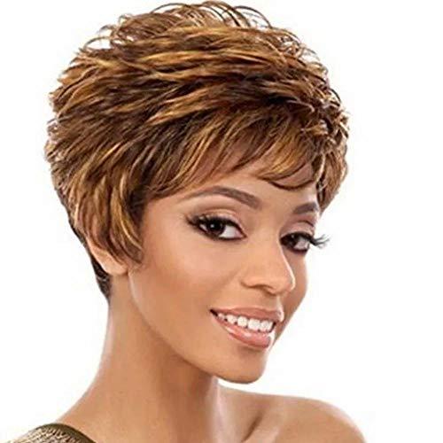 Lifelike Mesdames personnalité de la Mode Perruques Petites Perruques bouclées Cheveux Courts Convient à Toutes Les Femmes
