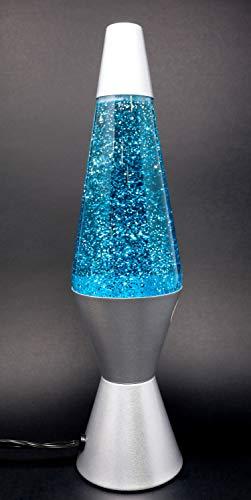 "Tradeopia Glitter LAMP Blue 14"""