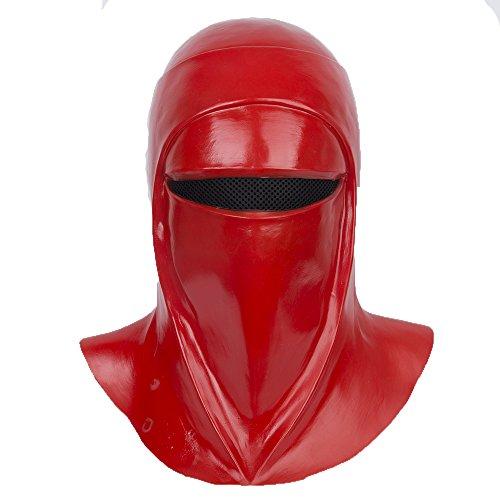 Máscara de guardia real Yacn Imperial Royal Guard Cosplay, casco de la Guardia Imperial, casco de la Guardia Real de la Guerra de la película 2018, látex, rojo (máscara RoyalGuard)