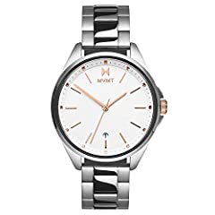 THE IT WATCH: Inspired by the city to coast lifestyle, the Coronada's universally glamorous 36mm silhouette is the essense of a statement piece. SOPHISTICATED MOVEMENT - Battery powered 3 hand Miyota Quartz movement with date DURABLE AND WATER RESIST...