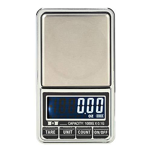Mini balanza profesional de bolsillo, balanza digital, balanza electrónica, balanza 1000g * 0,1g pesas