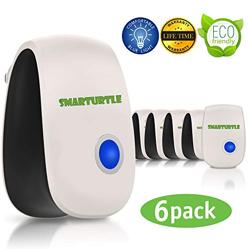 SMARTURTLE [2020 Upgraded] Ultrasonic pest Repeller Plug in Indoor Insect Repellent Electronic pest Control Mouse Bug Fly Electric Mosquito Repellent mice Rodent Cockroach Destruct Roach Defender