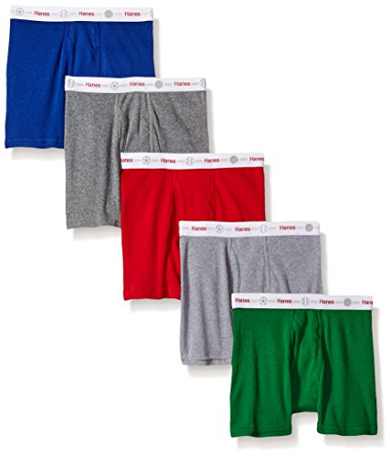 Hanes Boys' Toddler 5-Pack Boxer Brief, Assorted, 2/3
