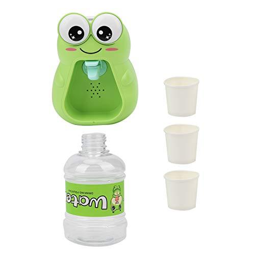 Juguete dispensador de Agua de simulación con Efecto de Sonido Ligero Mini Bebedero para niños Dispensador de Agua de Dibujos Animados Lindo Juguete con 1 Cubo y 3 Tazas(versión de luz y Sonido)