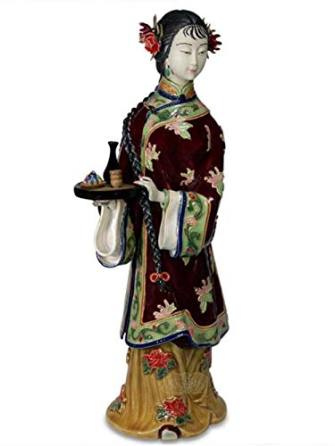 Soprammobili Sculture Decorative Figurine Bambole Ceramiche Antiche Cinesi della Statua Femminile D'Imitazione Antica per Le Arti della Scultura da Collezione della Decorazione Domestica